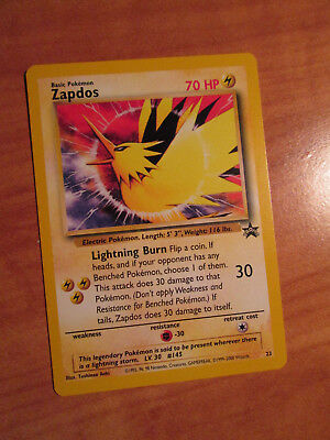 NM Pokemon ZAPDOS Card BLACK STAR PROMO Set #23 Legendary Lightning Bird Movie