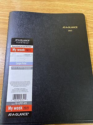 2021 Weekly Appointment Book Planner By At-a-glance 8-14 X 11 Large