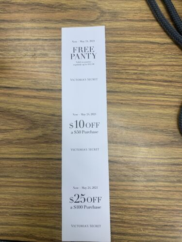 Victoria Secret Coupons 3  - $2.99