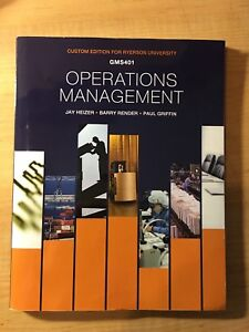 Operations Management GMS401 Ryerson Edition