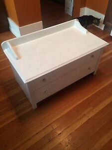 For sale: vintage wood toy box with two drawers -$125. OBO