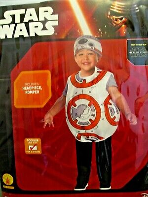 Star Wars Costume Toddler (BB-8 Droid Star Wars Toddler  2T 3T  NEW Rubies Boy/Girl)