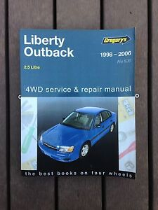 Gregory's Subaru Outback/Liberty Workshop Manual Alberton Port Adelaide Area Preview