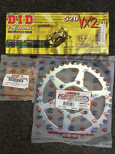 DID X ring Chain and Sprocket kit Yamaha R6 2006 - 2015 16/45 Stock size
