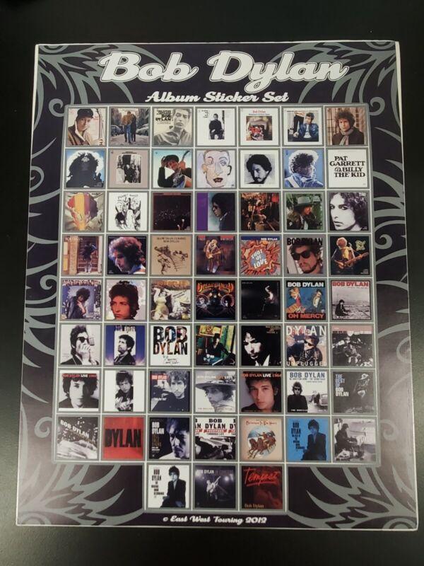 2012 BOB DYLAN Album Sticker Set - Rare piece! Brand New, Unused! Approx 11x14