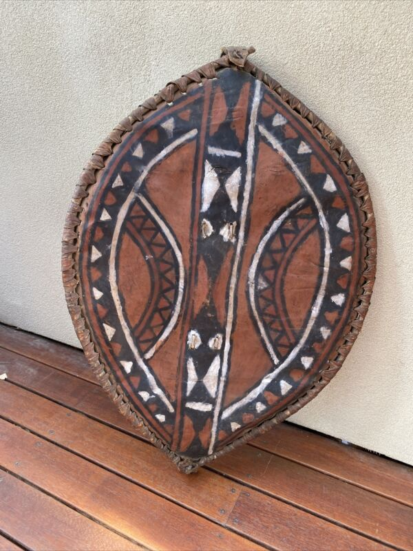 Classic Old African Masai Hide Warrior's Shield