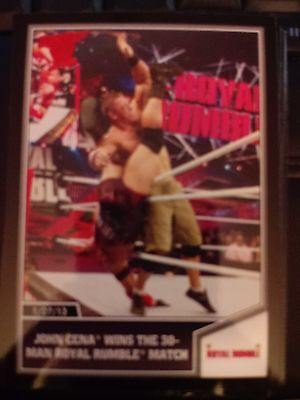 2013 Topps Best of WWE #84 John Cena Wins the 30-Man Royal Rumble Match RED