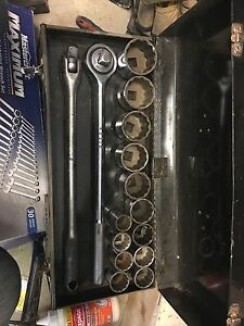 3/4 chrome socket set