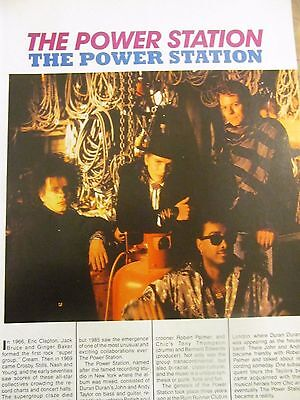 Duran Duran, The Power Station, Full Page Vintage Clipping