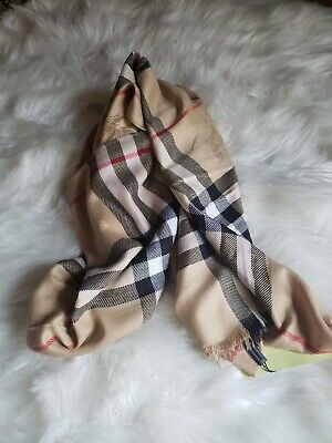 Burberry Scarf Plaid 100% Cashmere