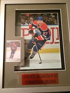 Conner McDavid card and remote control light frame