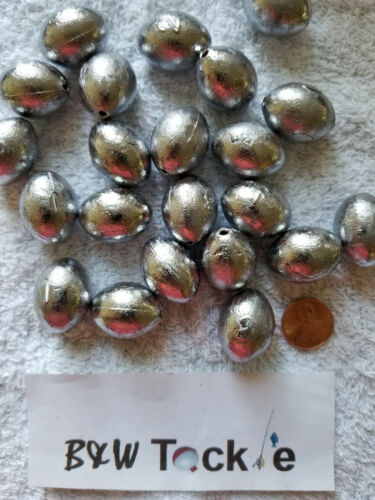 25pcs. 2 oz Egg Sinkers Slip Sinkers, Weights, Fishing, FREE shipping