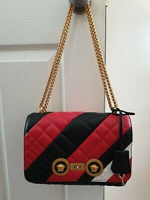 Versace medium colour block in quilted icon in Nappa Leather - New
