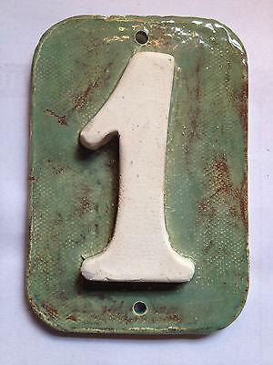 House address / Mailbox Post numbers - handmade ceramic tiles .Applewood pottery