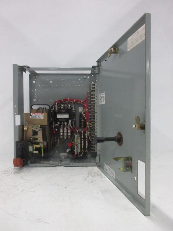 "General Electric GE 8000 Size 1 Starter 15 Amp Breaker Type 18"" MCC Bucket TEML"