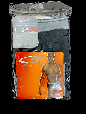 Champion C9 Mesh Sport Brief Large 36-38 Black 1 Pair NIP for sale  Shipping to India