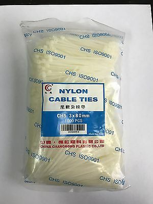 Lot of 50,000 Nylon Cable Ties - 3 x 80 mm