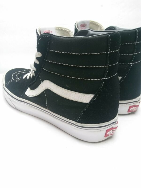 Vans Off The Wall High Top Skate Shoes Mens Size 9.5 Womens 11.0 Black Suede