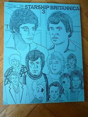 Vintage Blake's Seven 7/Doctor Dr Who/... Fanzine. Starship Britannica # 3 1987