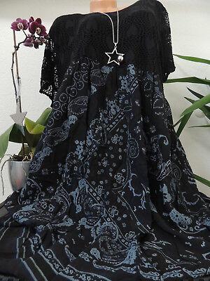Maxi Kleider Spitze (Damen Kleid Größe 46 48 50 52 54 Übergröße Kleider Maxikleid Blumen Spitze 72)