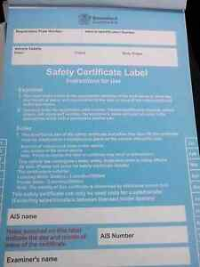 MOBILE ROADWORTHY / SAFETY CERTIFICATE S Victoria Point Redland Area Preview