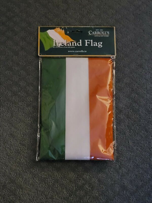 CARROLLS IRELAND FLAG ( NEW ) 5FT X 3FT W/ EYELETS