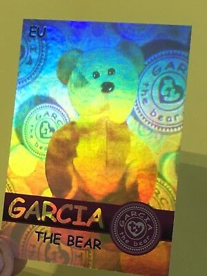 Ty Beanie Babies Trading Card EU Garcia The Bear Hologram, Series 2