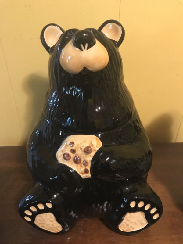 Bearfoots Black Bear Cookie Jar