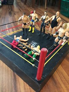 WWE wrestling figures and ring