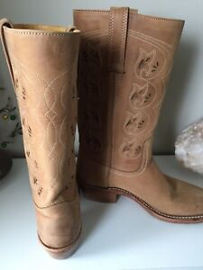 Frye Austin Flower Cutout leather cowboy boots sz 8.5 *rare*