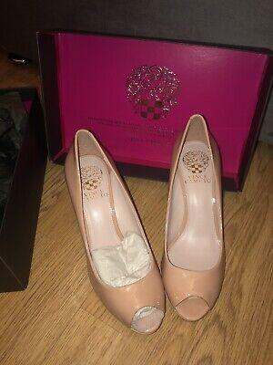 Nude Vince Camuto Designer Peep Toe Heels Size 3 Eu 36 BNIB...