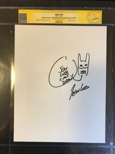 CGC JEPH LOEB Signed & Sketch BATMAN original art drawing hush marvel tv jim lee