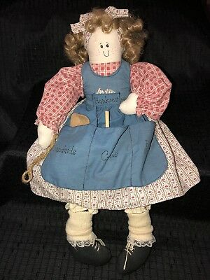 "Primitive Apron Country 18"" Nurse Doll"