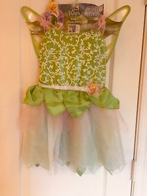 NEW Disney Fairies Costume Tink's Pixie Dress Up Size 4 5 6 6x Secret of Wings