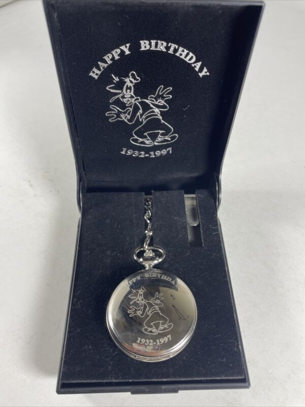 Limited Edition 1997 DISNEY CATALOG Exclusive GOOFY Pocket Watch 0664 Of 1932