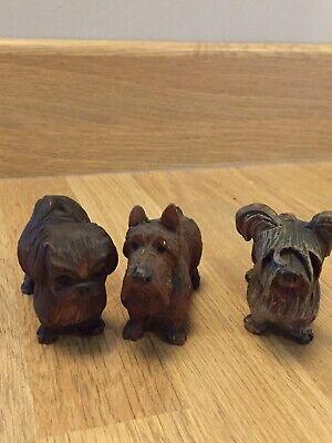 3 Vintage Black Forrest Dogs