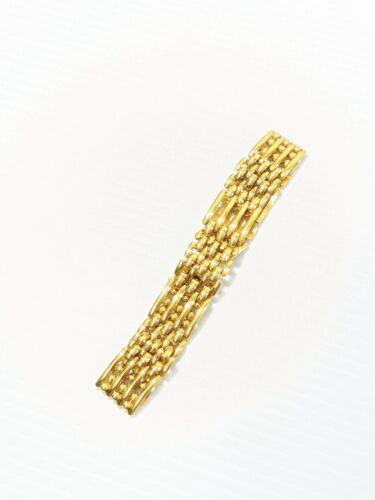 Vintage Napier Gold Tone Brick Chain Link Bracelet 7.25 Inches