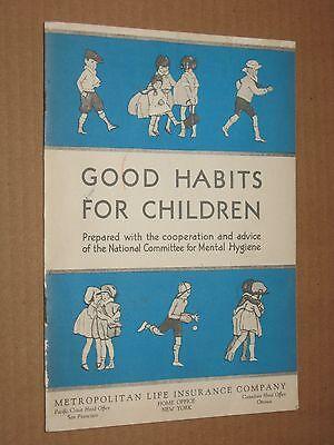 Good Habits For Children - Vintage c.1930's Met Life Booklet