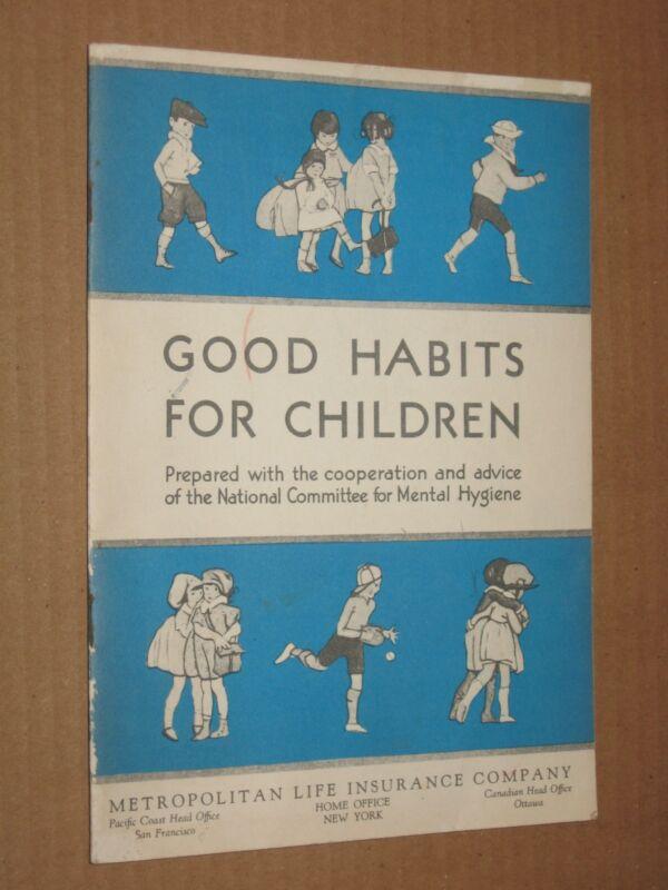 Good Habits For Children - Vintage c.1930