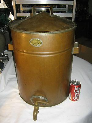 ANTIQUE PRIMITIVE HUGE COPPER STEAMER BOILER KETTLE POT PAN COOKER WHISKY STILL
