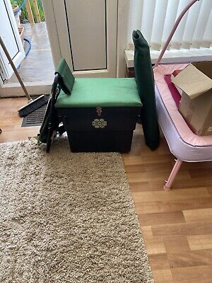 Fishing Box, Seat With Back Pack And Camp Bed