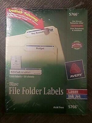 Avery Permanent File Folder Labels 1500 Labels 50 Sheets Blue