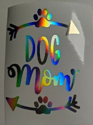Paw Print Decals (Holographic Rainbow