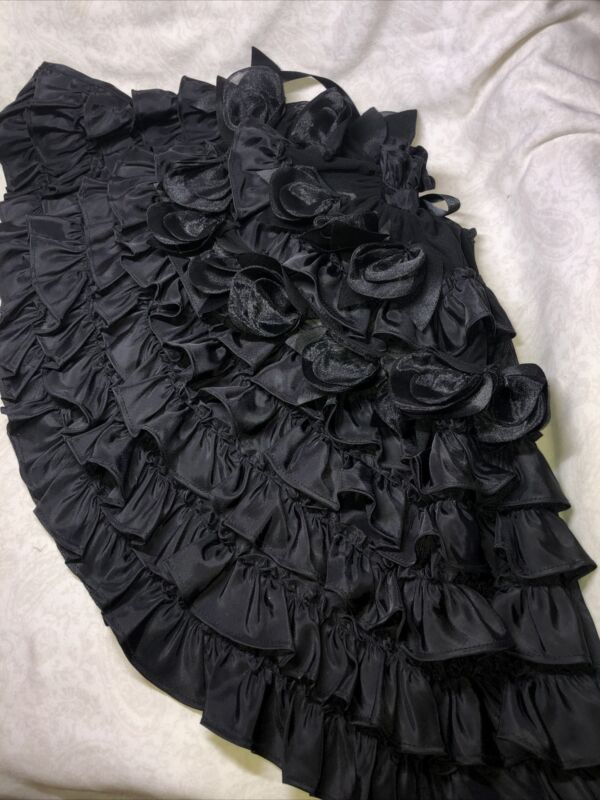 """19"""" Tonner Evangeline Ghastly Outfit """"Cover Of Darkness"""" Floral Black Cape M27"""