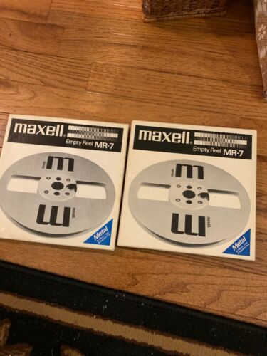 """Vintage Maxell MR-7 Reel to Reel Plastic Empty 7"""" Great Condition"""
