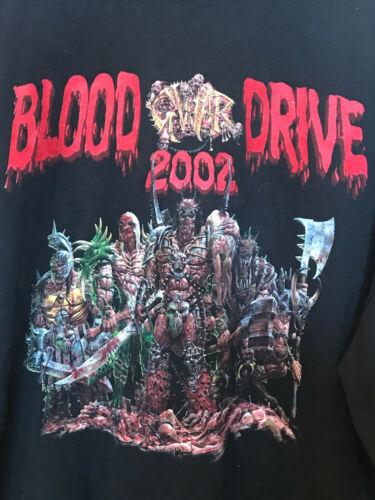 Vintage Original 2002 GWAR Blood Drive Hoodie Very Hard To Find