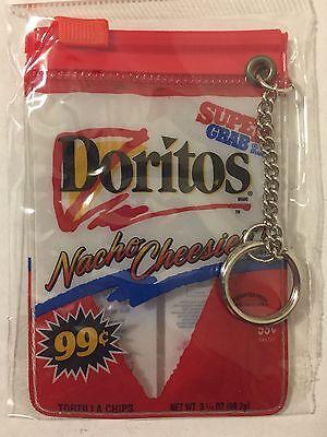 Vintage 1990s NEW Doritos Nacho Cheese Bag Coin Purse Keychain Cheesier NOS NIP