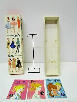 Vintage Mattel 1959 Barbie Ponytail Box-Stand- Booklets only -- No Doll