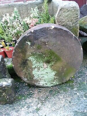 Large antique Reclaimed Gritstone Wheel