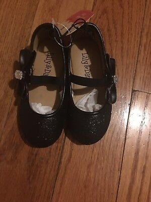 Lily & Dan Girls Black  Ballet Flats Bow On The Side Size 5/6 For Little - Black Ballet Flats For Girls